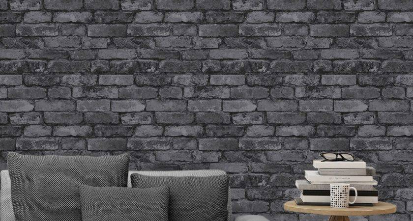 Fine Decor Rustic Brick Effect Feature Wall