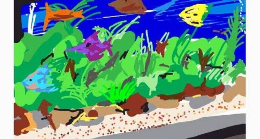 Fish Aquarium Drawing