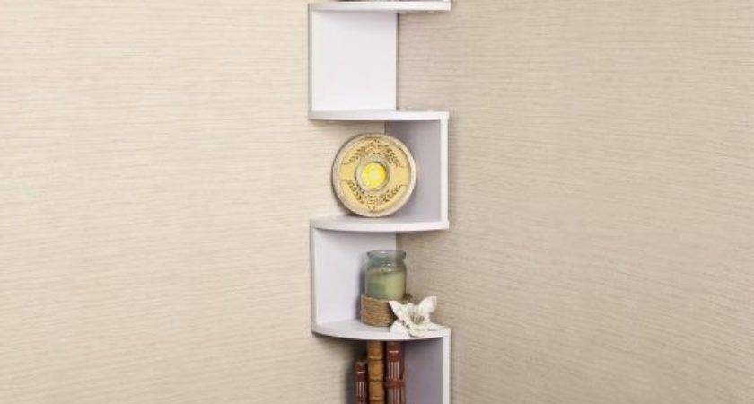 Floating Shelves Display Modern Book Indoor Plants