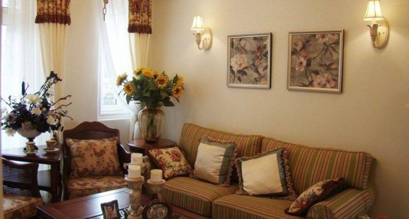 Floral Pattern Sofa Country Chic Living Room