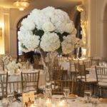 Formal Tall White Centerpieces Hydrangea Giant Roses
