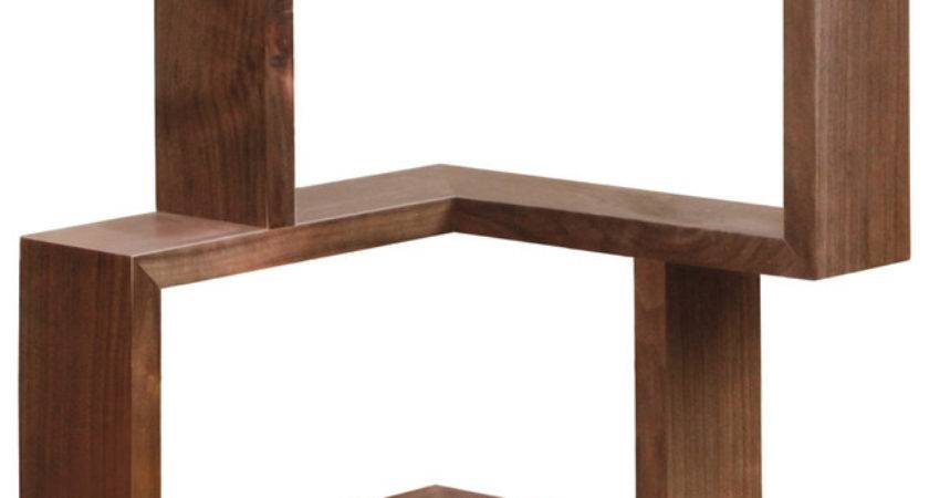 Franklin Shelf Walnut Modern Display Wall
