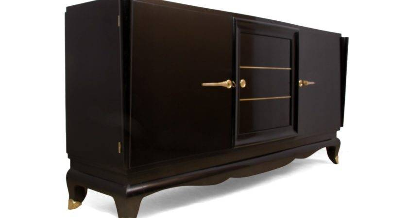 French Art Deco Black Sideboard Furniture Rooms