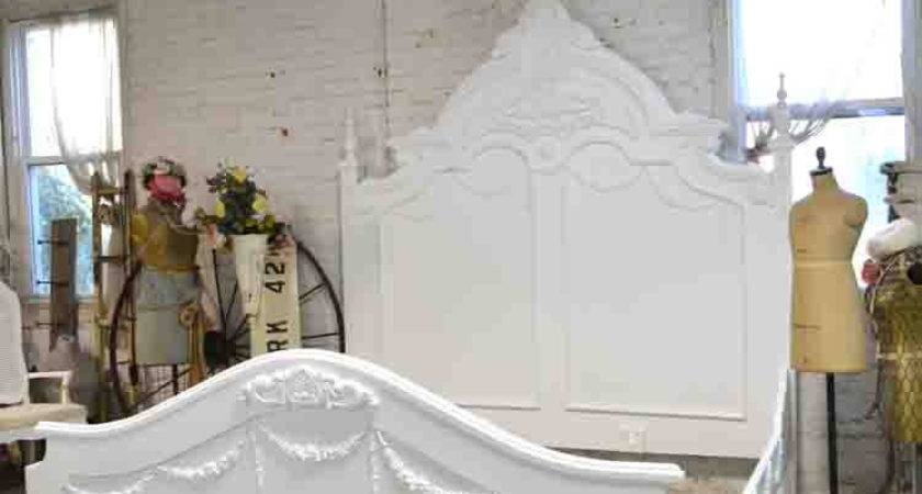 French Bed Painted Cottage Shabby Chic Romantic Queen King