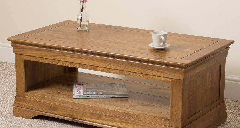 French Chateau Coffee Table Oak Furniture King
