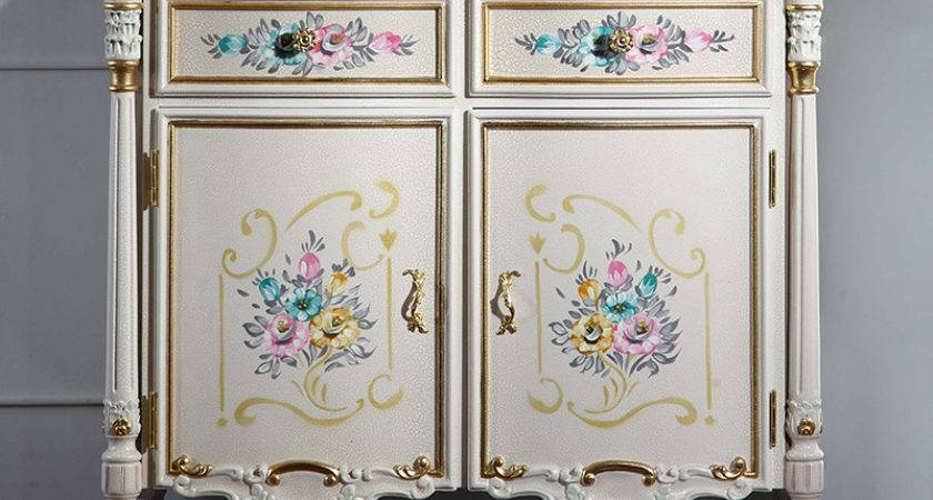 French Chateau Furniture Solid Wood Gold Foil Leaf