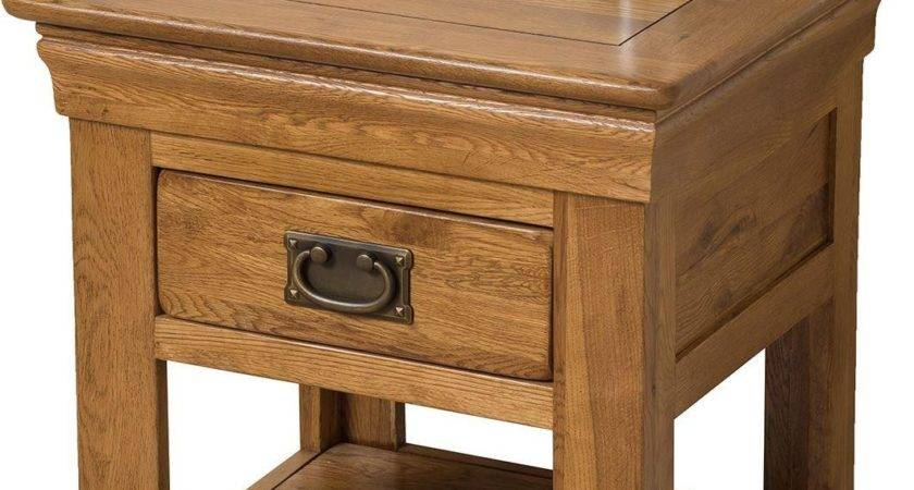 French Chateau Lamp Table Oak Furniture King