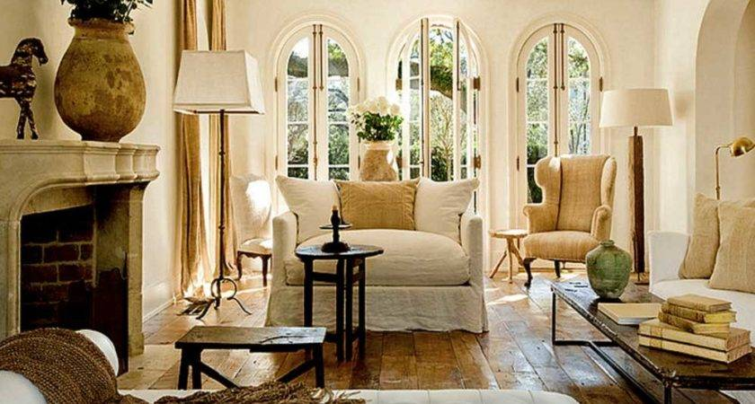 French Country Living Room Ideas Fireplace Home