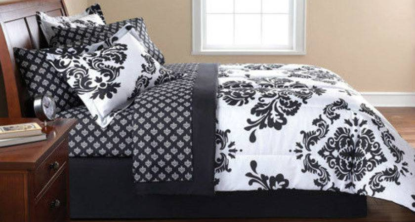 French Damask Black White Queen Bedding Comforter Set Ebay