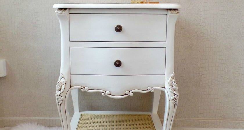 French Library Shabby Chic Bedside Table