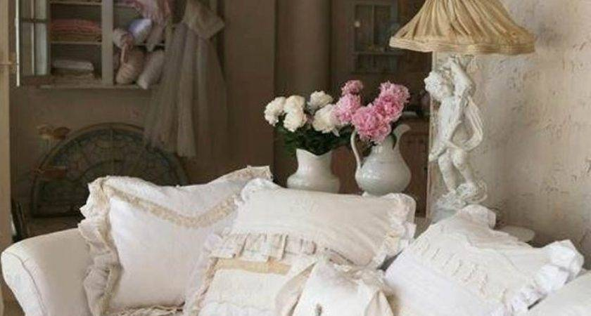 French Shabby Chic Style Living Room Design