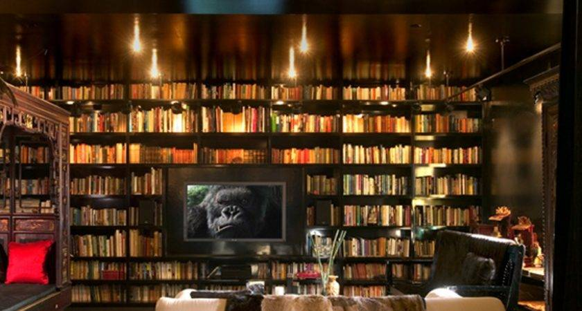 Fresh Home Library Design Luxurious