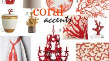 Friday Find Summer Decorating Coral Accents