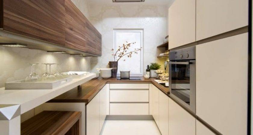Functional Long Narrow Kitchen Ideas Designs Cabinets