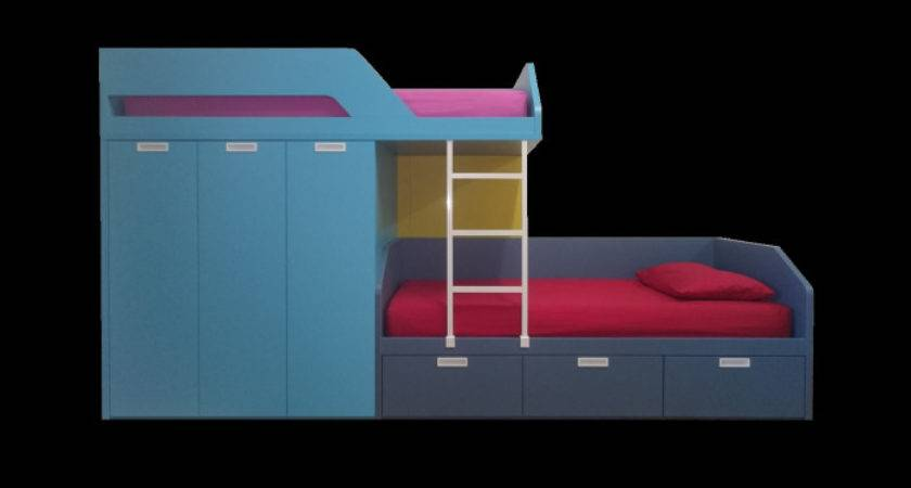 Funky Bunk Kids Staggered Beds Space Saving