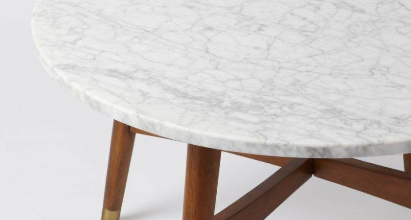 Furniture Coffee Table Round Marble