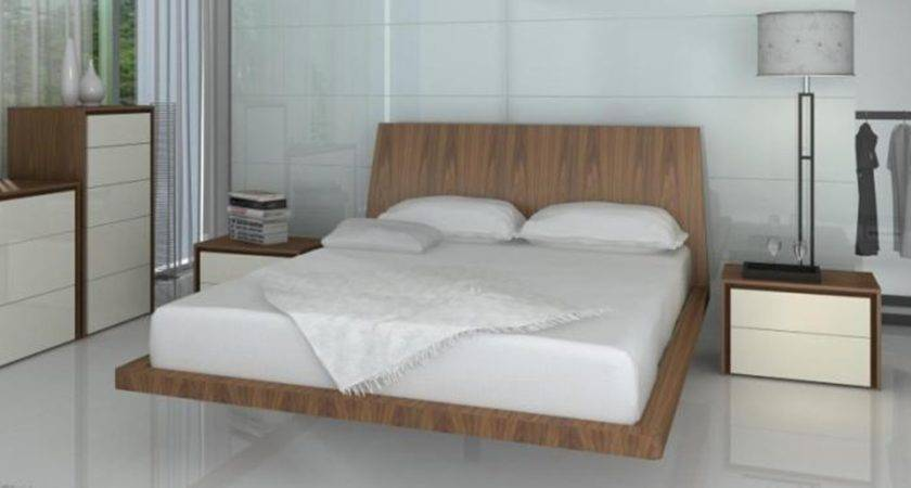 Furniture Cool Floating Bed Frame Queen