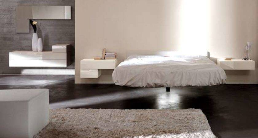 Furniture Modern Floating Bed Design