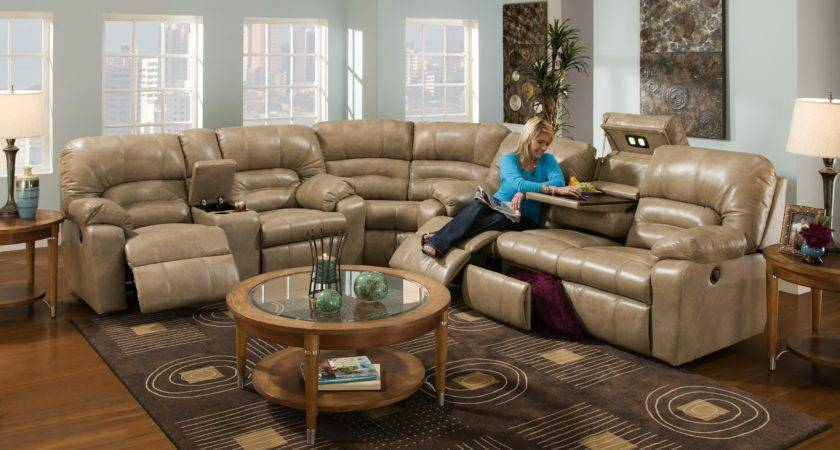 Furniture Modern Sectional Couch Design Round Table