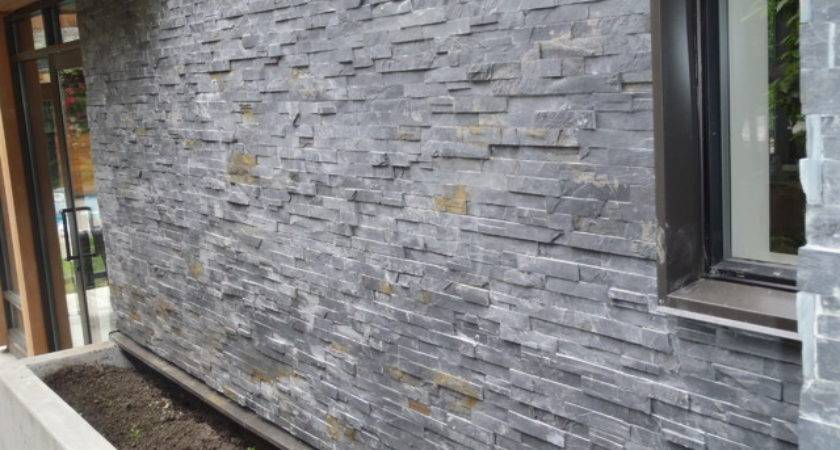 Geometric House Slate Wall Contemporary Vancouver