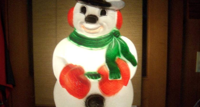 Giant Lighted Blow Mold Snowman Outdoor