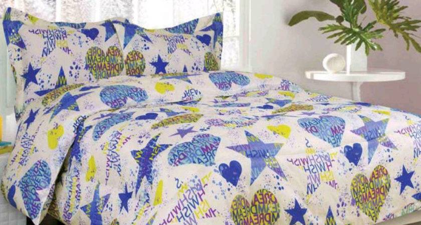 Girls Bedding Sydney Lime Green Blue Purple Bed