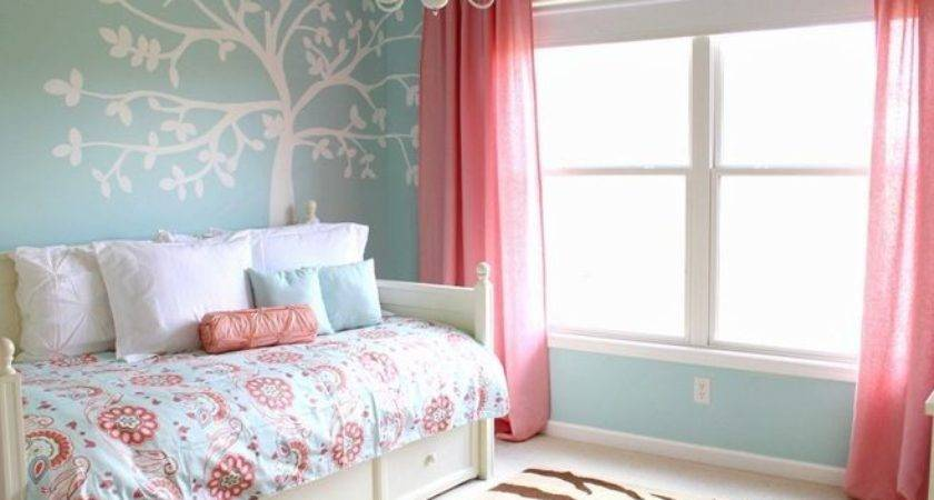 Girls Bedroom Pink Teal Decorate House