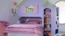 Girls Dollhouse Bunk Bed