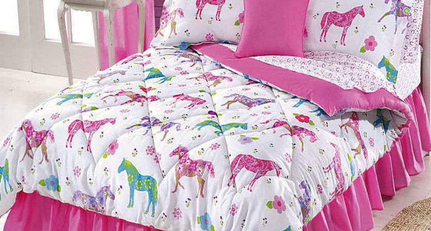 Girls Pink Equine Western Pony Horse Bedding Sizes