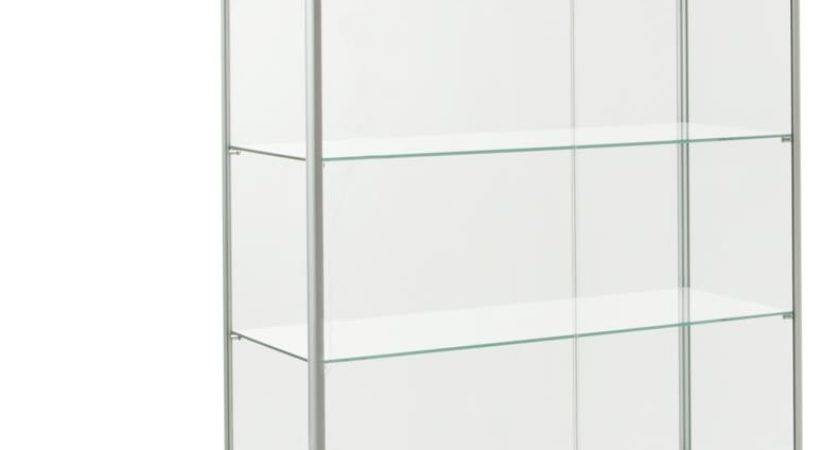 Glass Display Cases Locking Silver Finish Fixtures