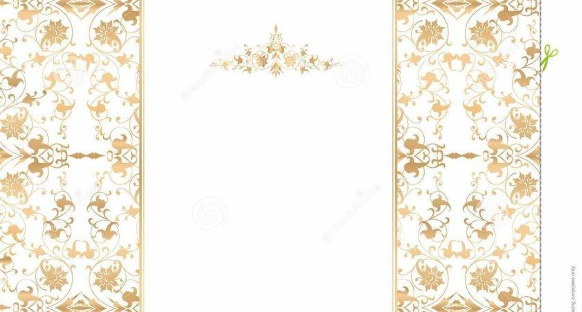 Gold Floral White Vector