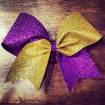 Gold Purple Glitter Cheer Bow Ask Bulk Discounts