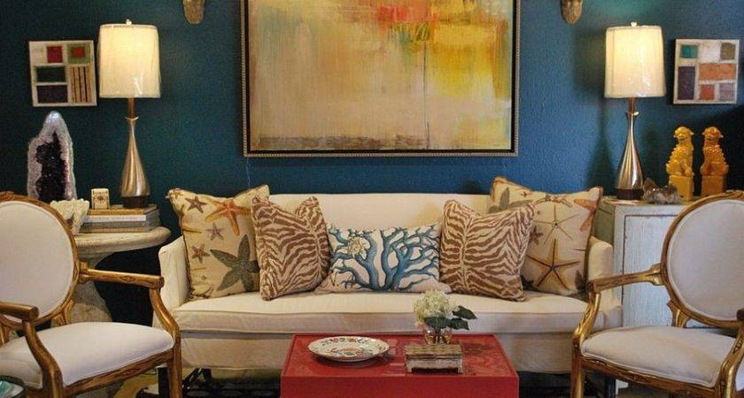 Gold Turquoise Eclectic Living Room Decoist