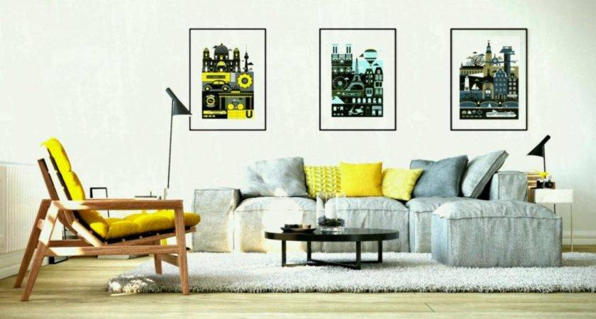 Gorgeous Yellow Accent Living Rooms Gray Room Home
