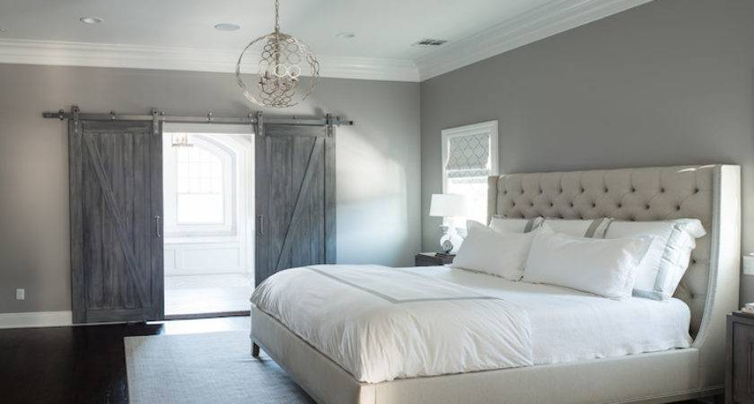 Gray Bedroom Paint Colors Transitional