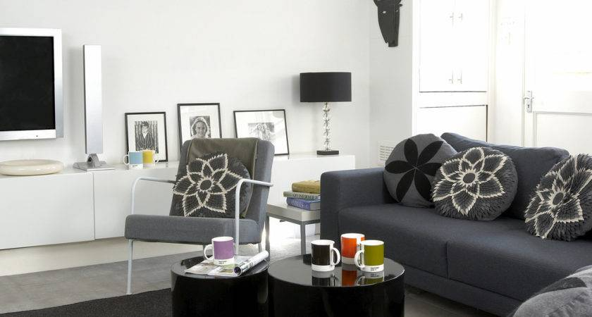 Gray Contemporary Modern Room Living Design