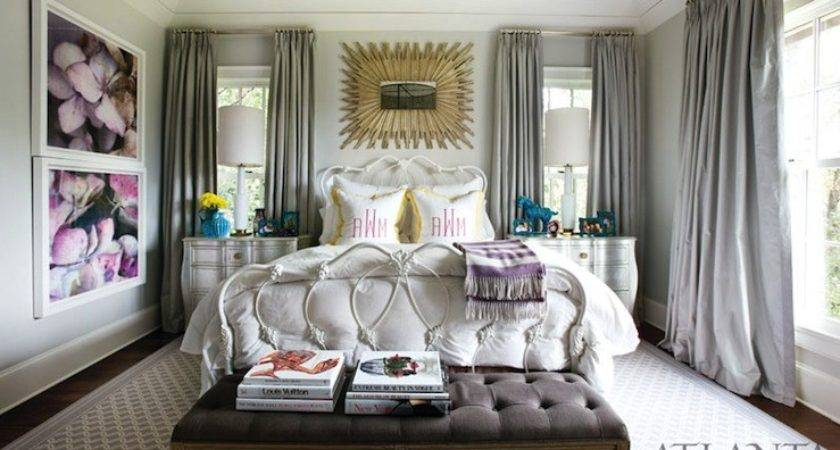 Gray Curtains Contemporary Bedroom Atlanta Homes