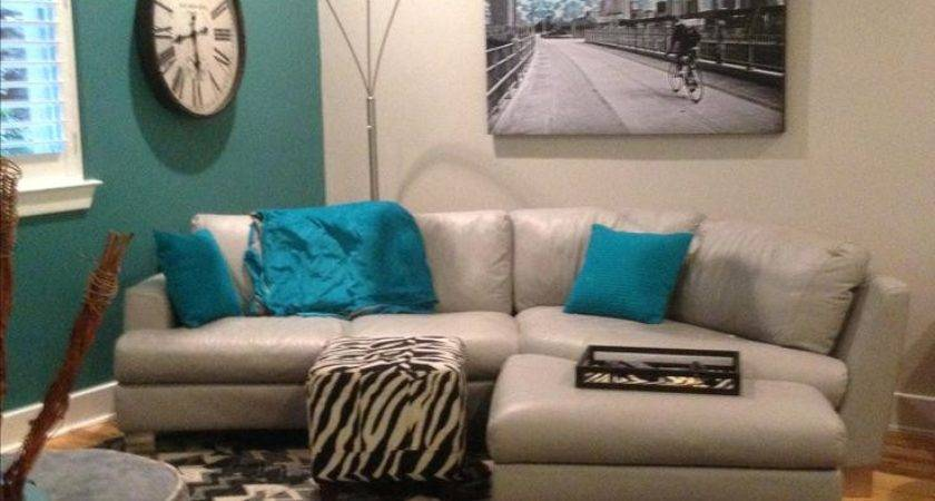 Gray Living Room Teal Accents Grey Turquoise Rooms