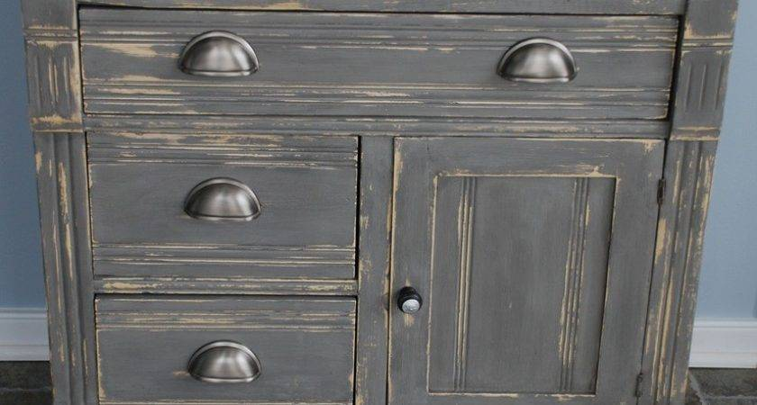 Gray Painted Cabinet