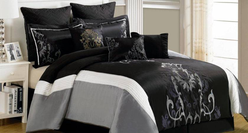 Gray Queen Comforter Set Elegant Solid Grey