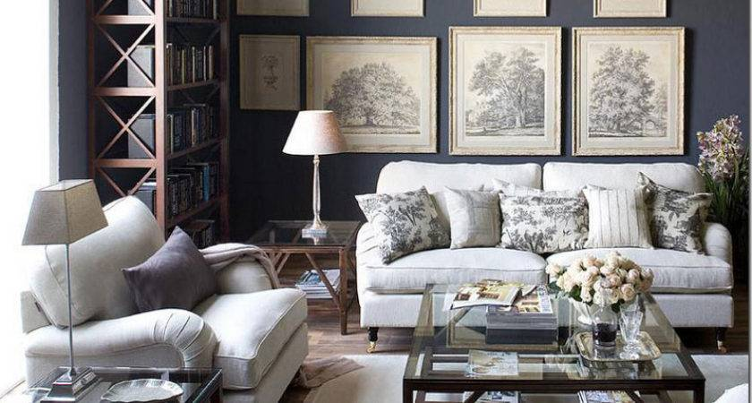 Gray Toile Living Room Interiorly
