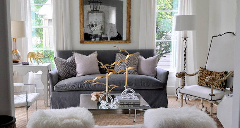 Gray Velvet Sofa Eclectic Living Room Sally Wheat