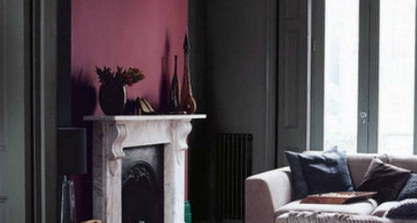 Gray Walls Burgundy Accents