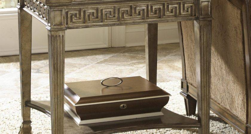 Grecian Style Side Table Glass Top Fine Furniture