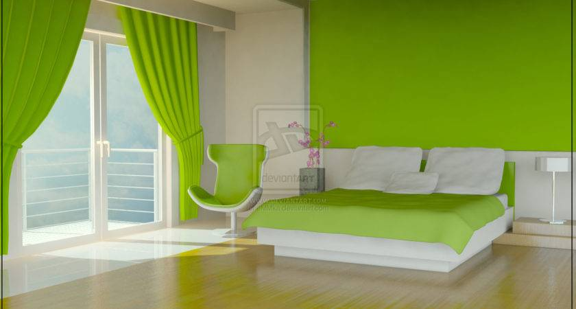 Green Color Bedrooms Interior Design Ideas