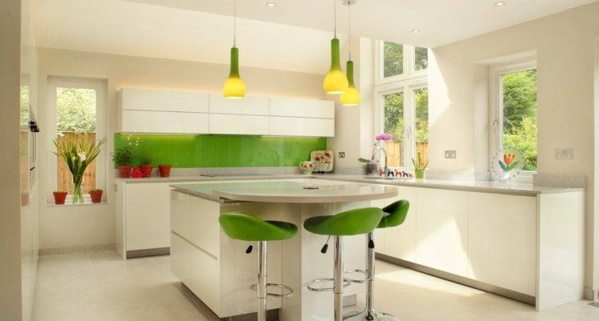 Green Kitchen Cabinets Traditional Curved Wall New