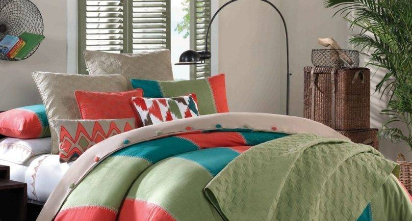 Green Orange Bedding Sets Country Style
