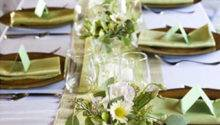 Green White Table Decor Decorating Envy