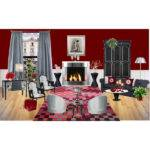 Grey Burgundy Living Room Polyvore