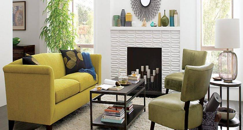 Grey Living Room Yellow Accents Modern House